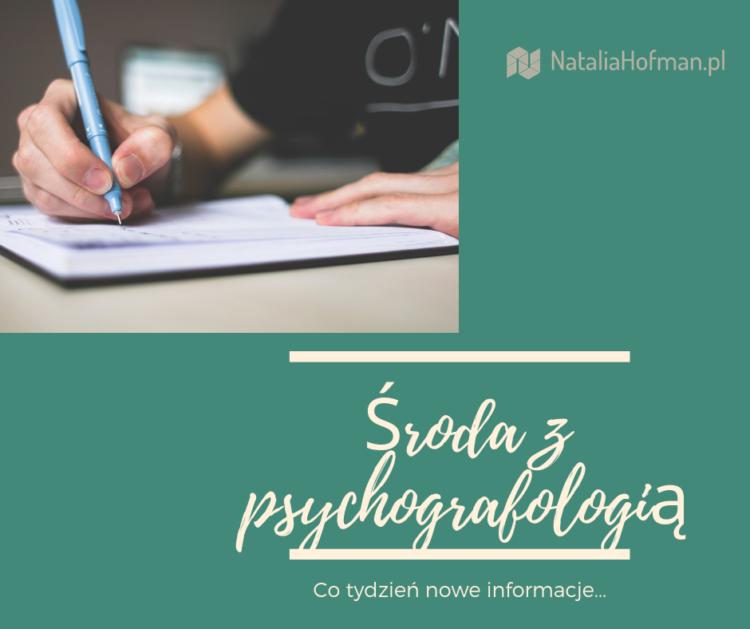 Środa z psychografologią